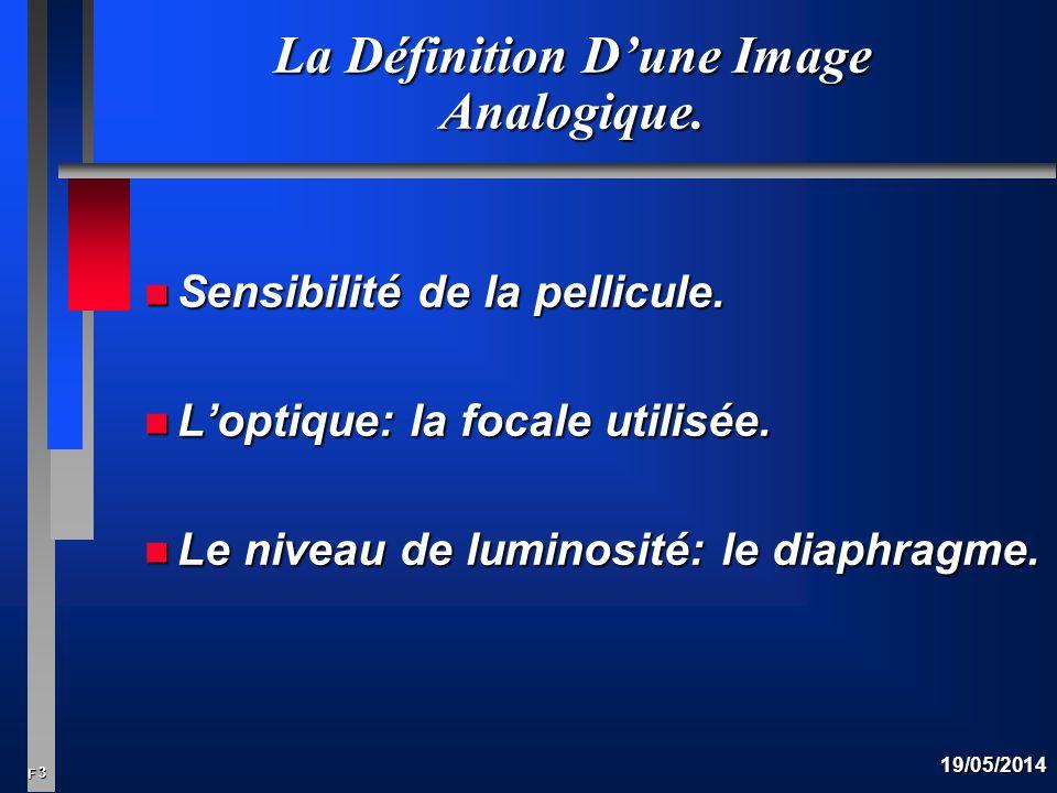 3 F 19/05/2014 La Définition Dune Image Analogique.