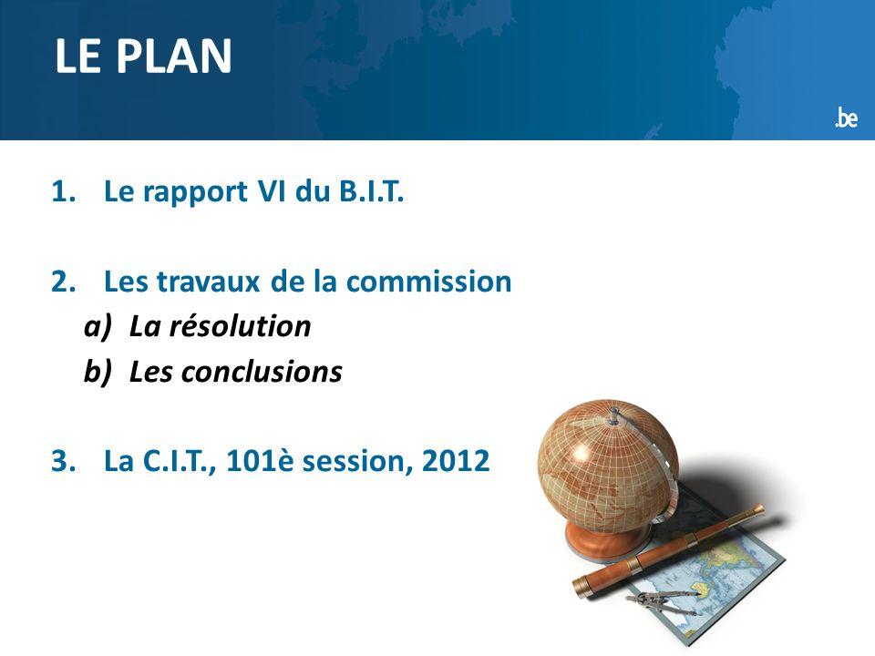 2 1.Le rapport VI du B.I.T.