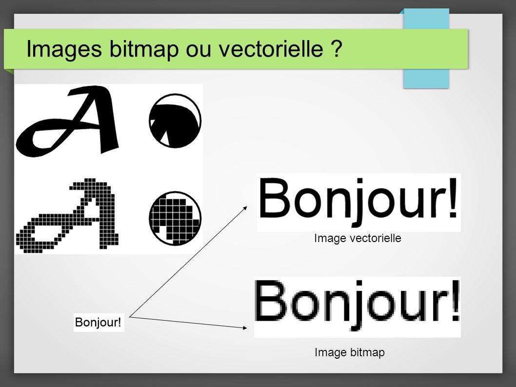Images bitmap ou vectorielle ? Image vectorielle Image bitmap