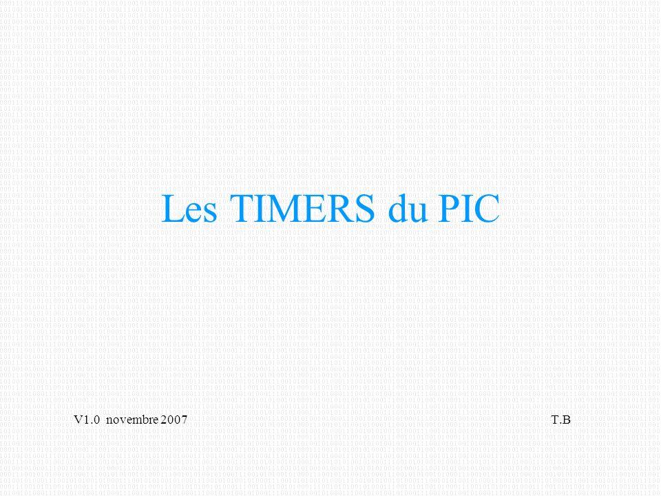 TIMERS = périphériques
