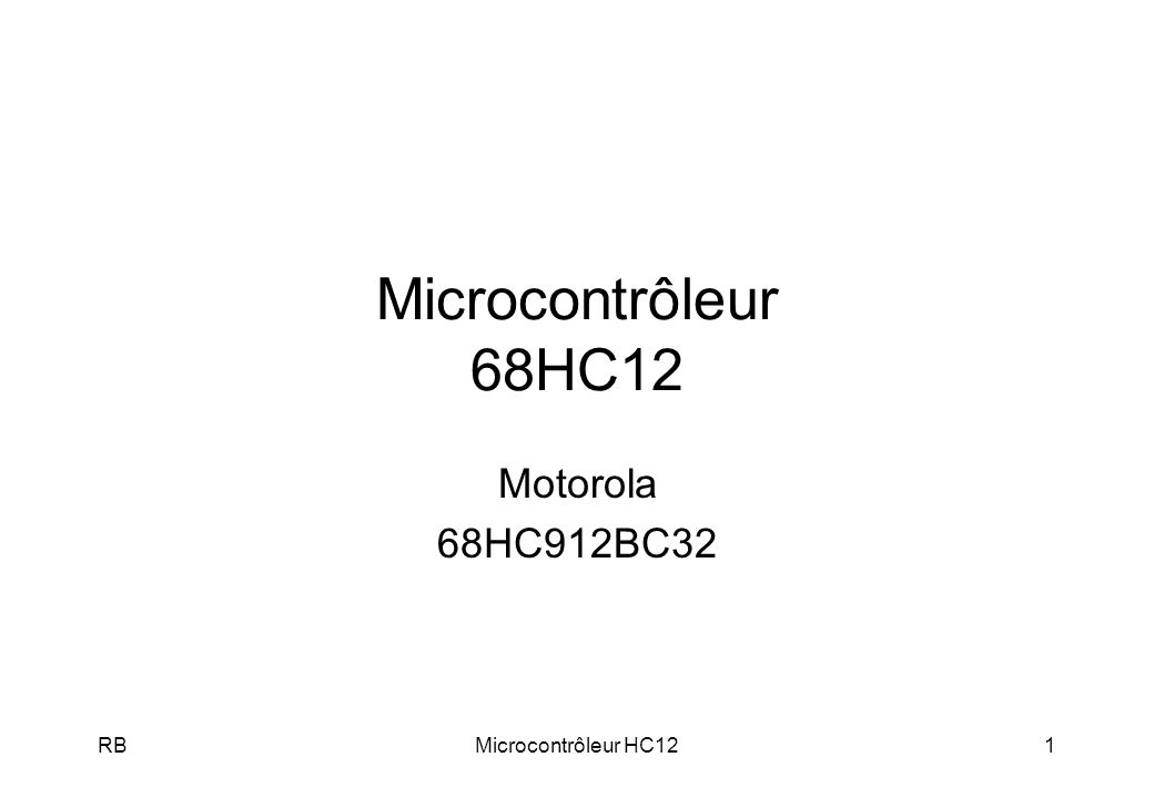 RBMicrocontrôleur HC1252 Bus CAN
