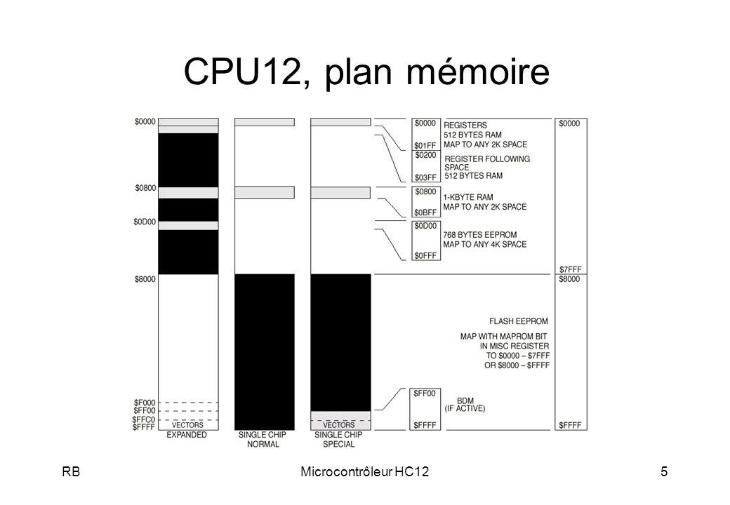 RBMicrocontrôleur HC126 CPU12, Interruptions