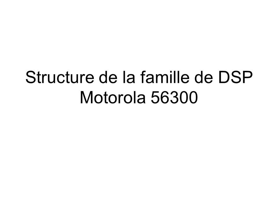 Structure de la famille de DSP Motorola 56300