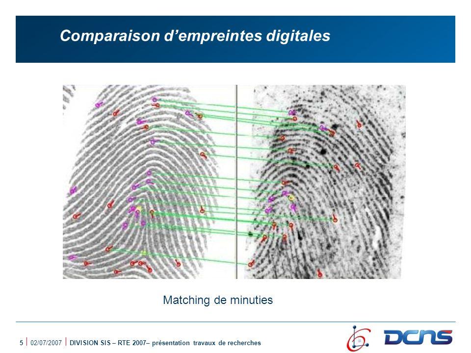 16 | 02/07/2007 | DIVISION SIS – RTE 2007– présentation travaux de recherches Graphe qualitatif des minuties
