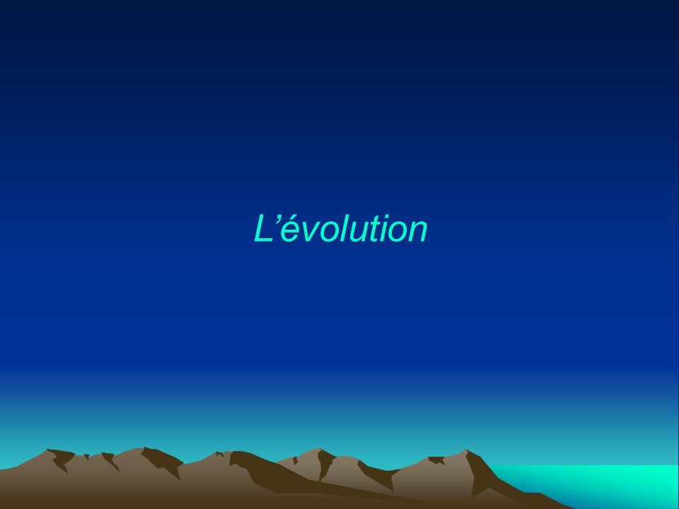 Lévolution