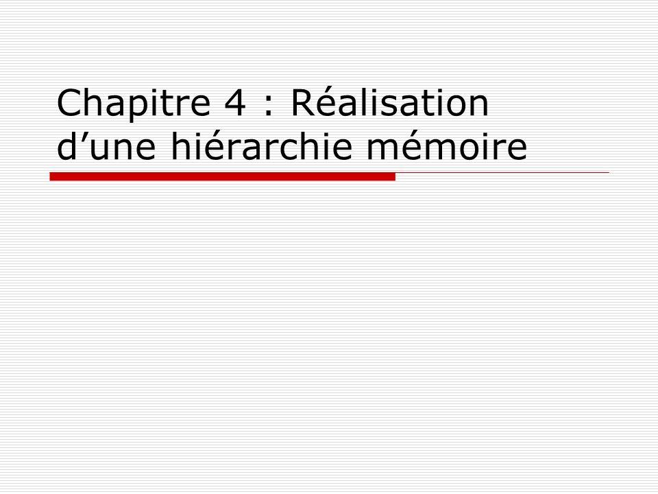 Chapitre 4 : Réalisation dune hiérarchie mémoire