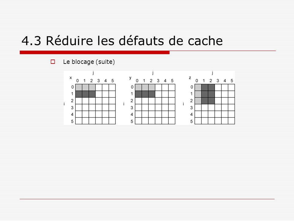 4.3 Réduire les défauts de cache Le blocage (suite)