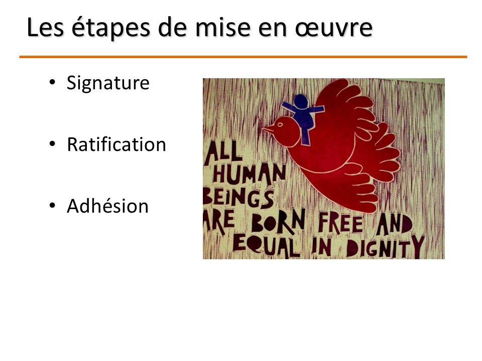 Signature Ratification Adhésion Les étapes de mise en œuvre