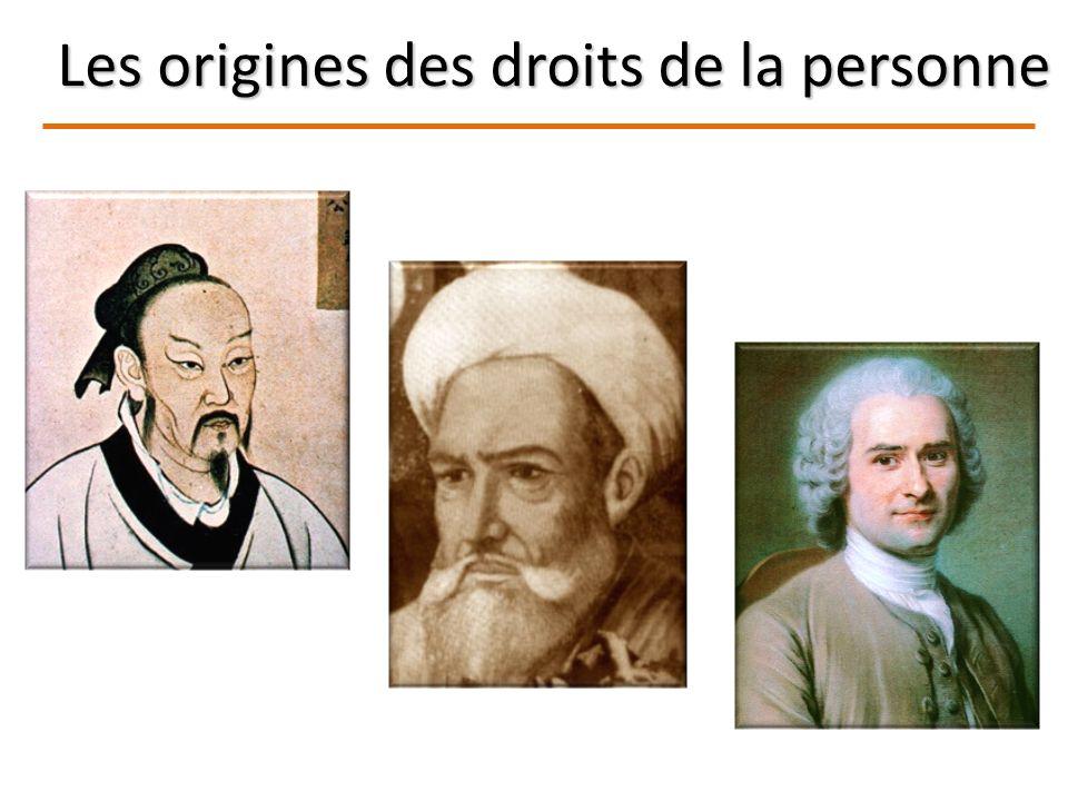 Les origines des droits de la personne