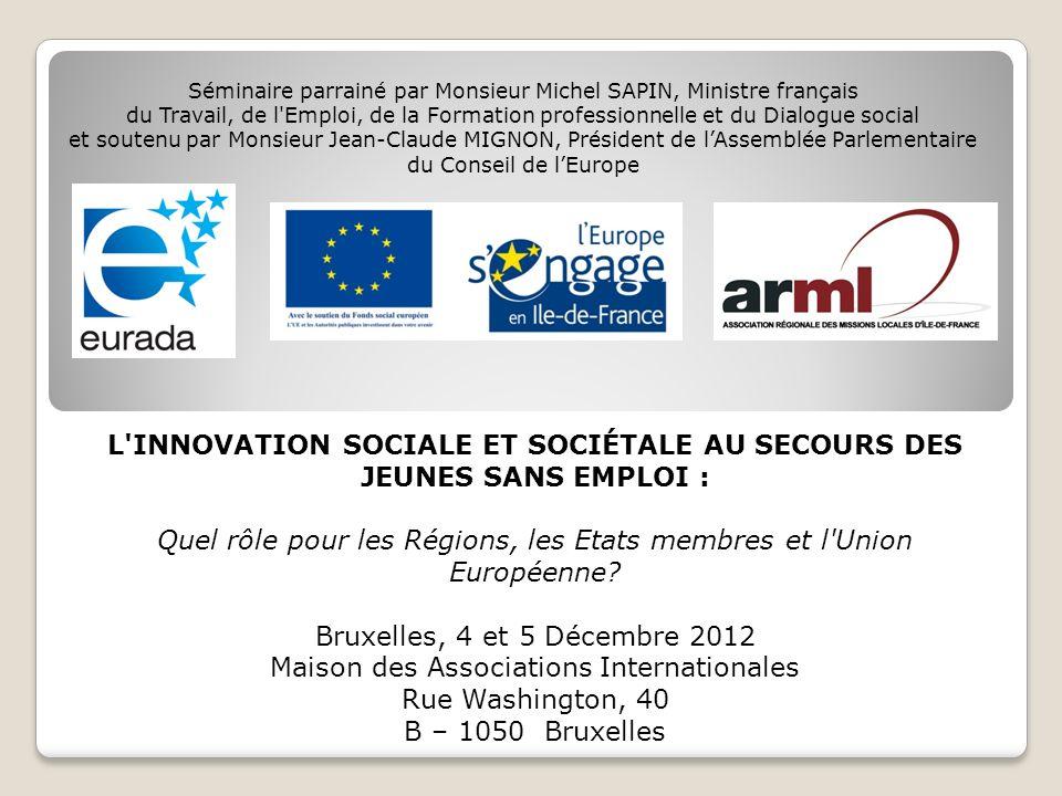 Linnovation sociale et sociétale : réponse au chômage des jeunes .