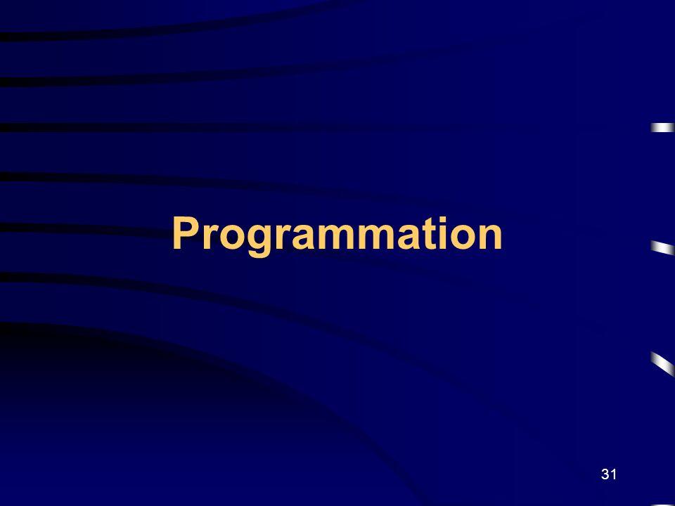 31 Programmation