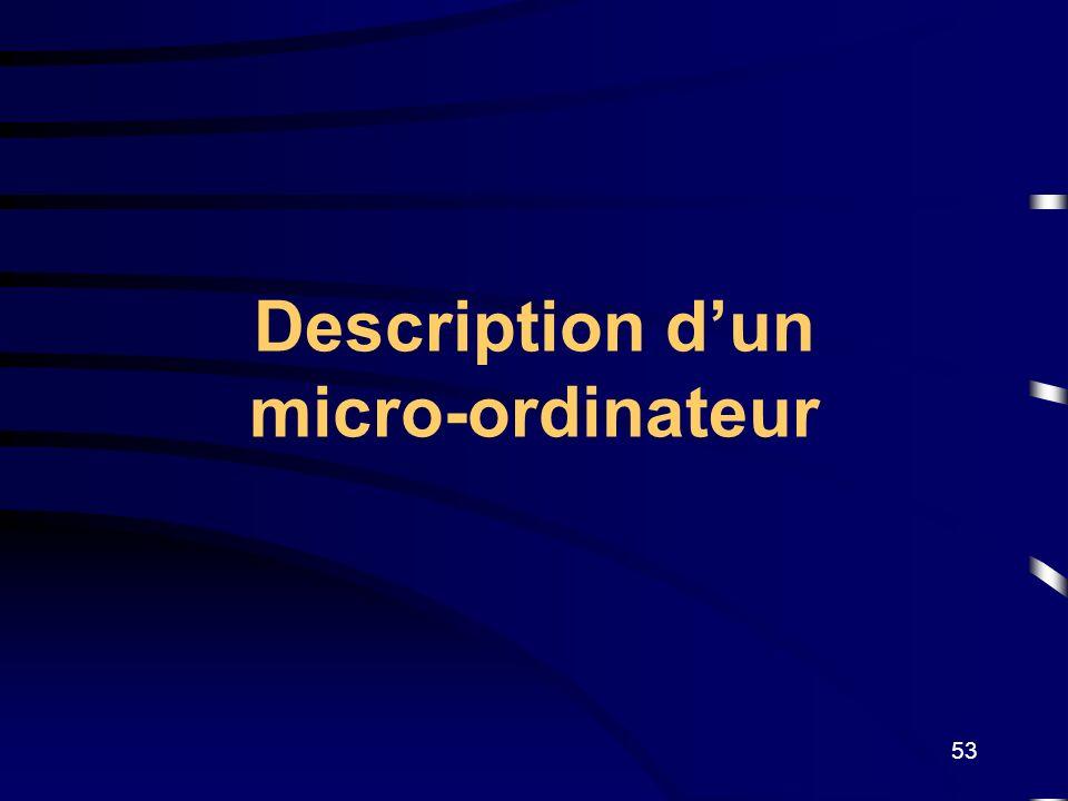 53 Description dun micro-ordinateur