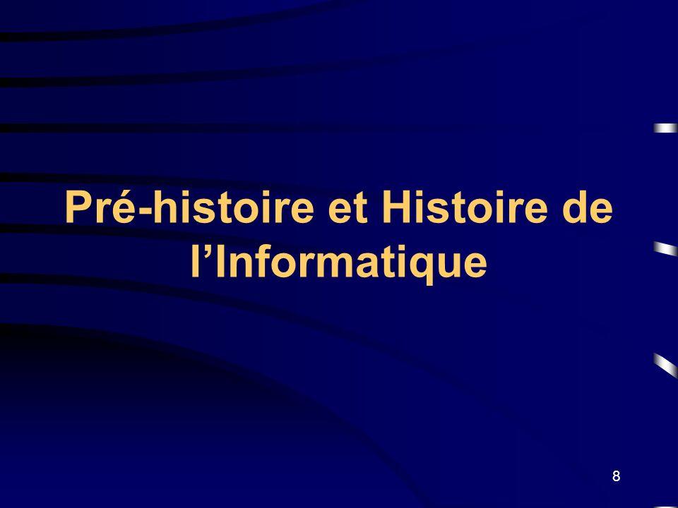 8 Pré-histoire et Histoire de lInformatique
