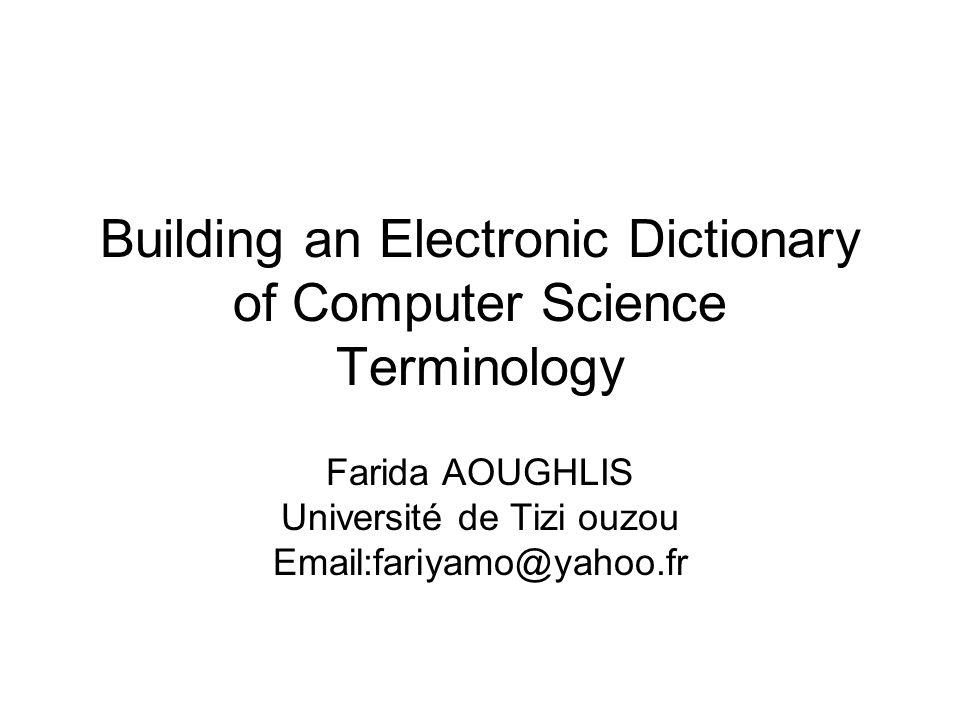 PLAN Introduction.Terminologie,noms composés. Extraction automatique de terminologie.