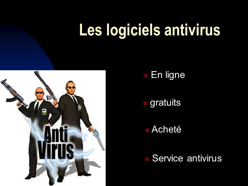 antivirus en ligne et gratuits En ligne : http://webscanner.kaspersky.fr Gratuits : Bit defender, AVAST, NOD32, AVG, ANTIVIR….
