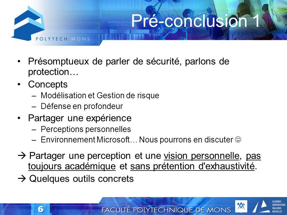 5 Sécurité, définition adaptée… Rafal's Definition: