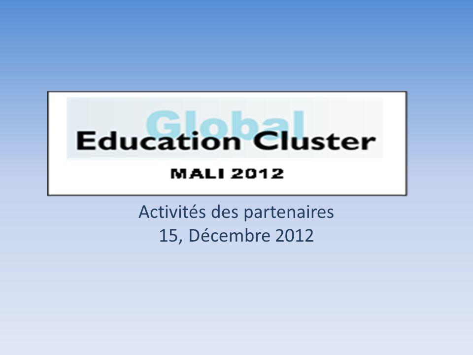 Activités des partenaires 15, Décembre 2012