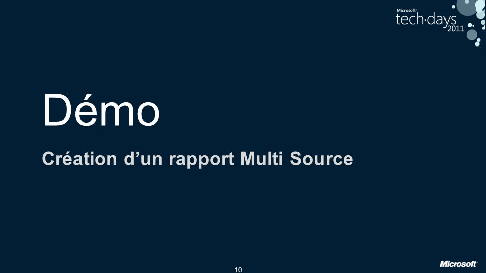 10 Démo Création dun rapport Multi Source
