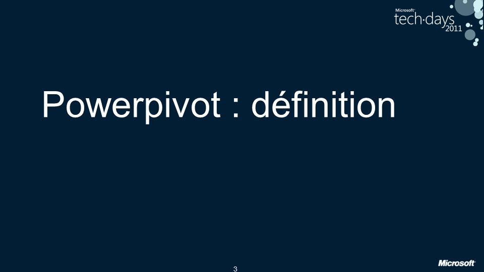 3 Powerpivot : définition