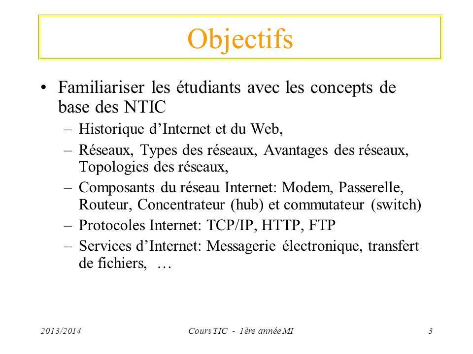 Protocole de communication (TCP/IP) Classe de réseaux: Les réseaux TCP/IP se divisent habituellement en trois grandes classes qui ont des tailles prédéfinies.