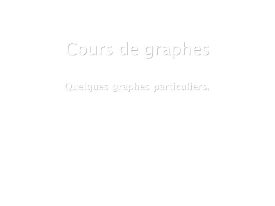 21 mars 2007Cours de graphes 8 - Intranet1 Cours de graphes Quelques graphes particuliers.