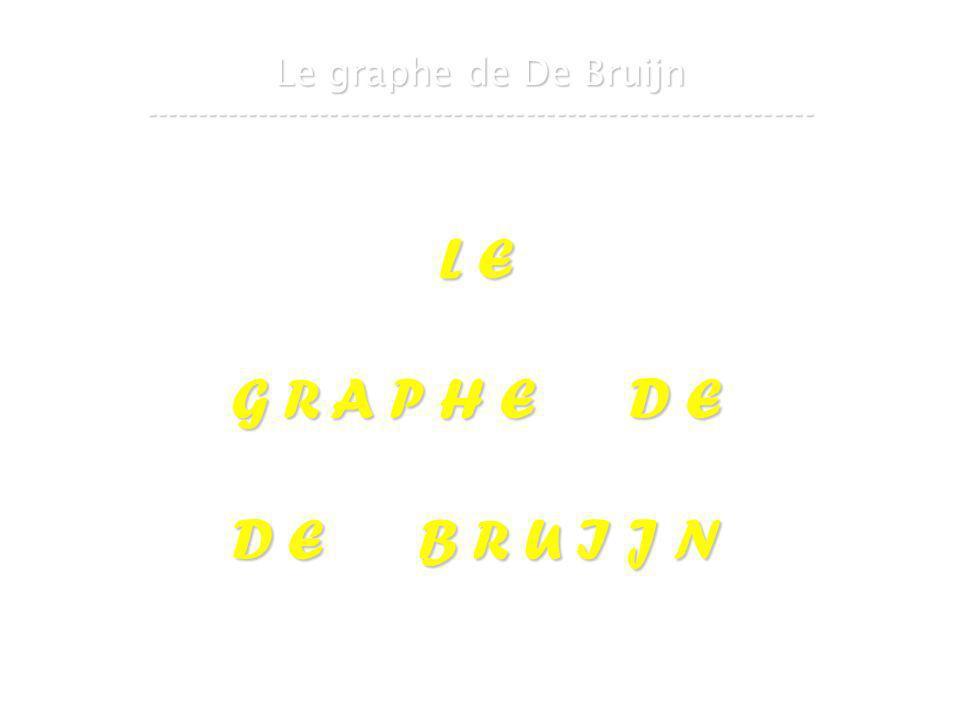 21 mars 2007Cours de graphes 8 - Intranet62 Le graphe de De Bruijn ----------------------------------------------------------------- L E G R A P H E D E D E B R U I J N