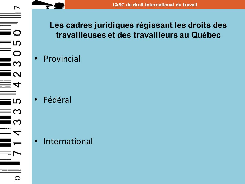 Quest-ce que le droit international.
