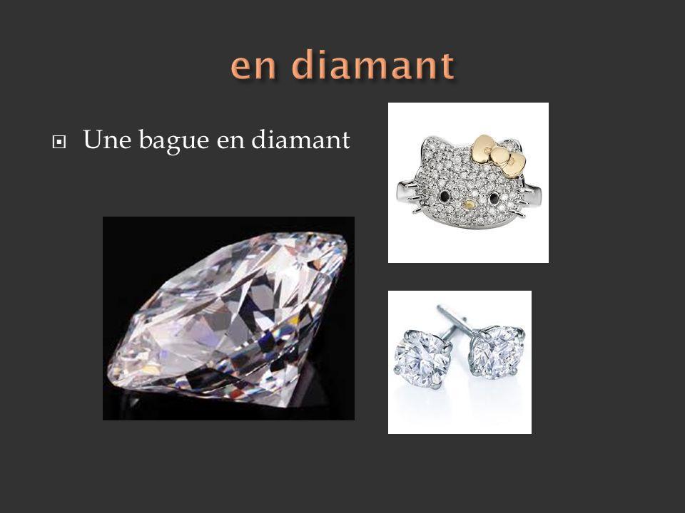 Une bague en diamant