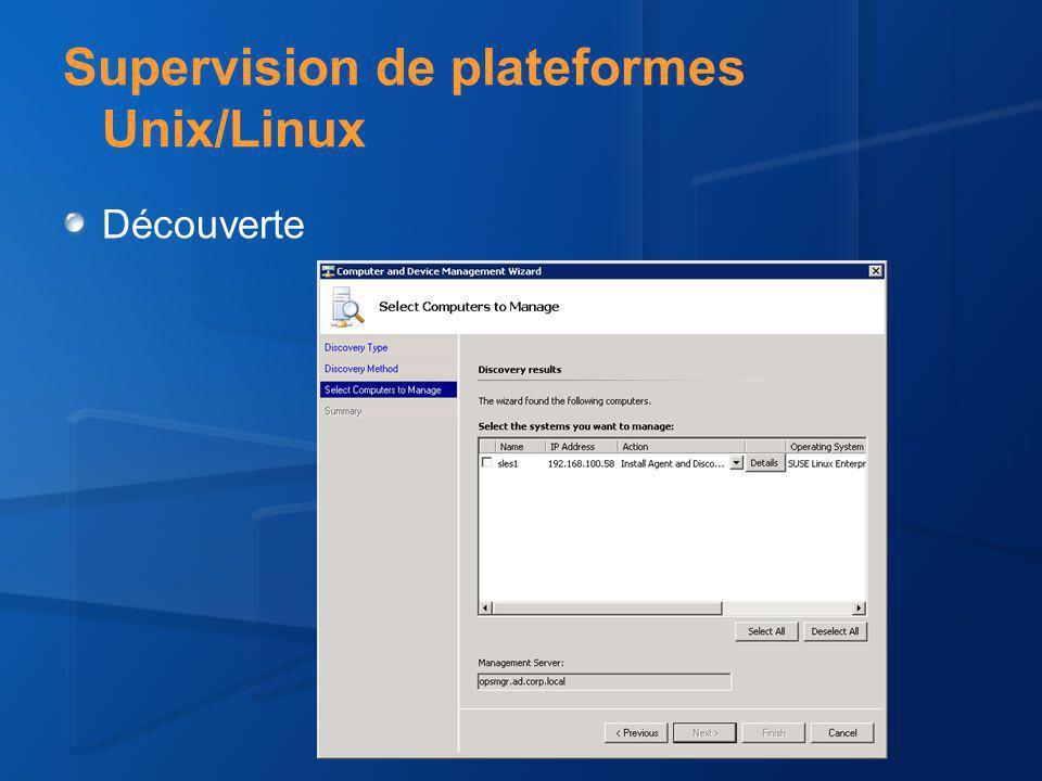Supervision de plateformes Unix/Linux Découverte