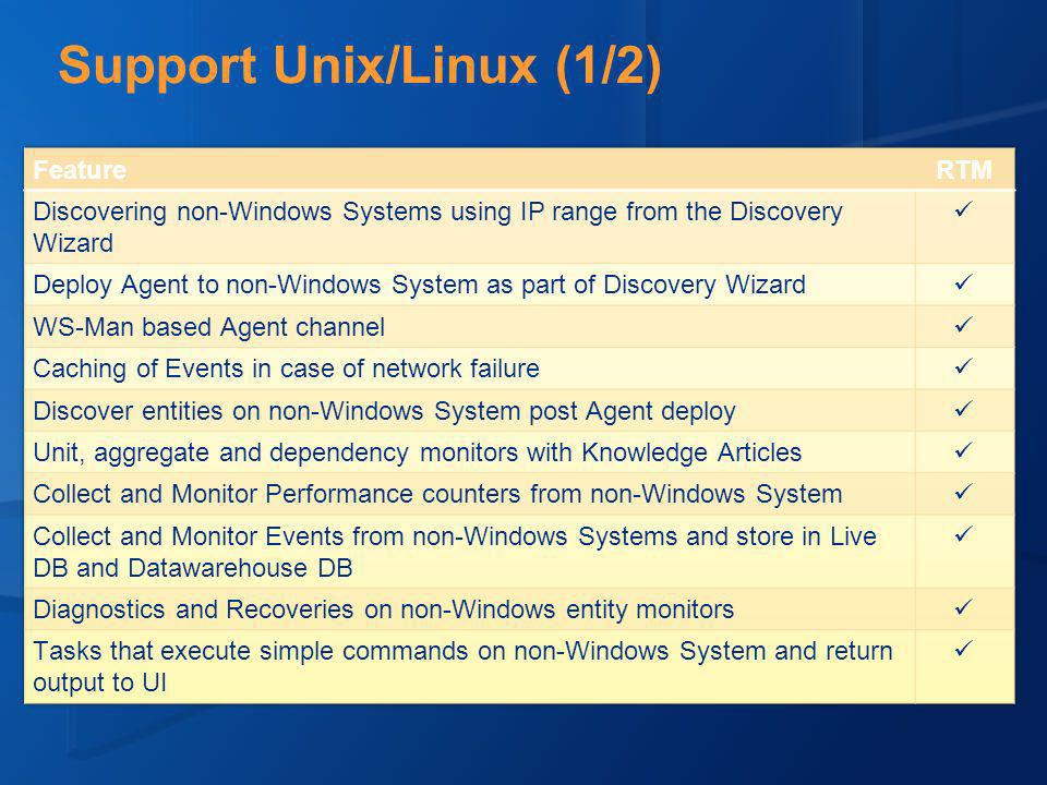 Support Unix/Linux (1/2)