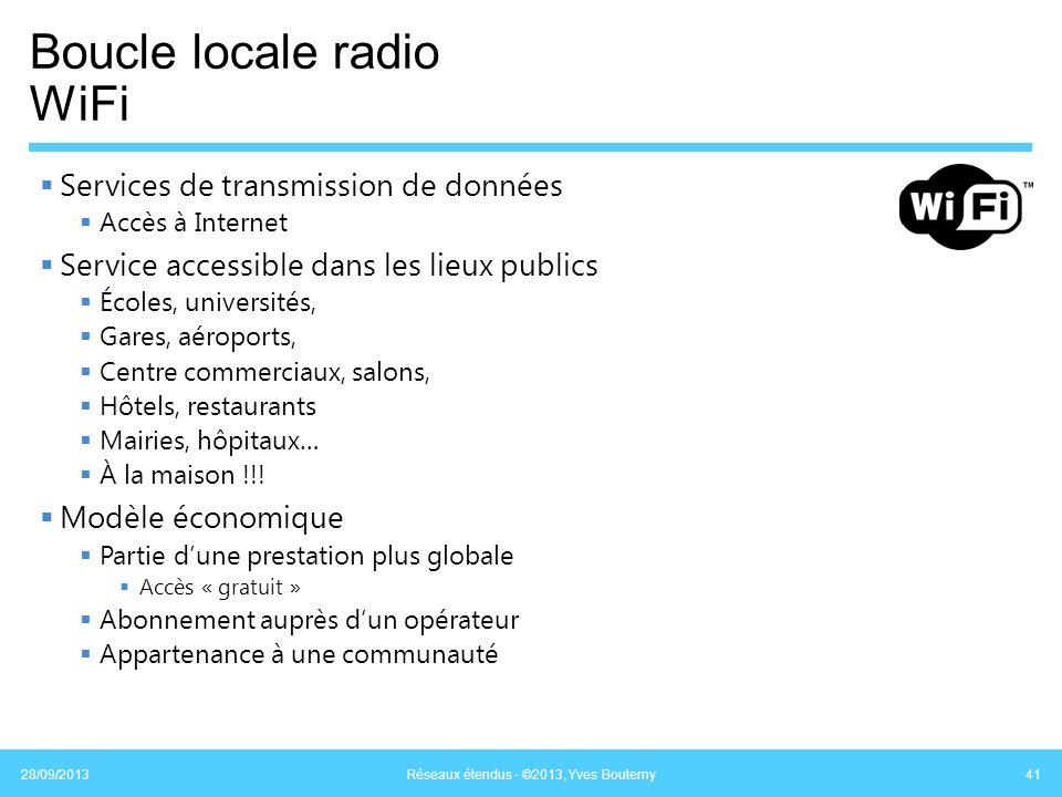 Boucle locale radio WiFi Services de transmission de données Accès à Internet Service accessible dans les lieux publics Écoles, universités, Gares, aé