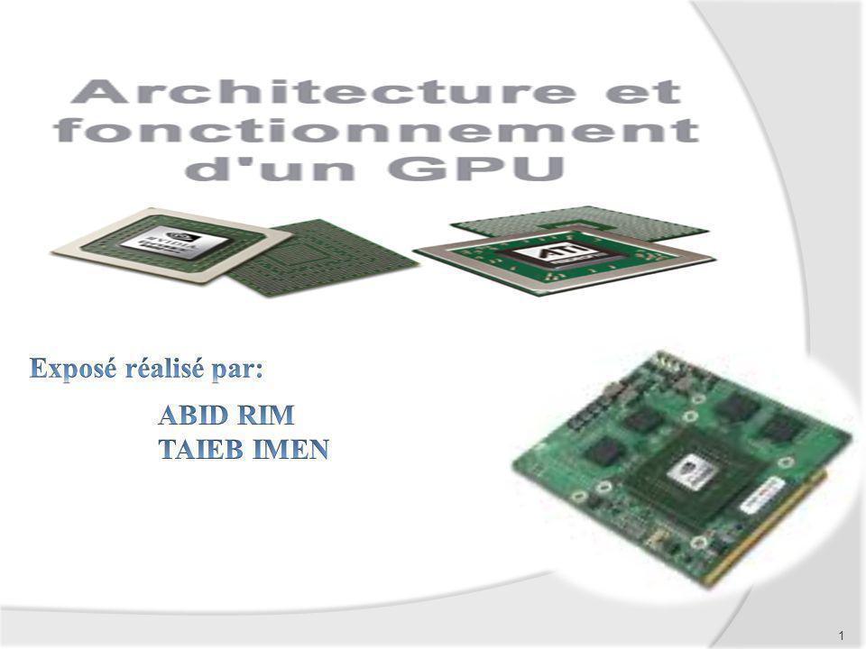 Plan 1 Introduction 2 Définition dun GPU 3 Types de GPU 4 Vue densemble dun GPU 4 Conclusion 2