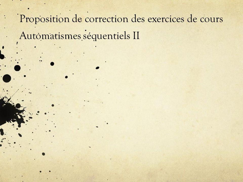 Langage IL: Exercice1 1°) Ecrire le programme IL qui code léquation combinatoire suivante: Résultat=a1+(a2*(a3-a4)*a5)+a6 LD a1 ADD( a2 MUL( a3 SUB a4 ) MUL a5 ) ADD a6 ST Résultat