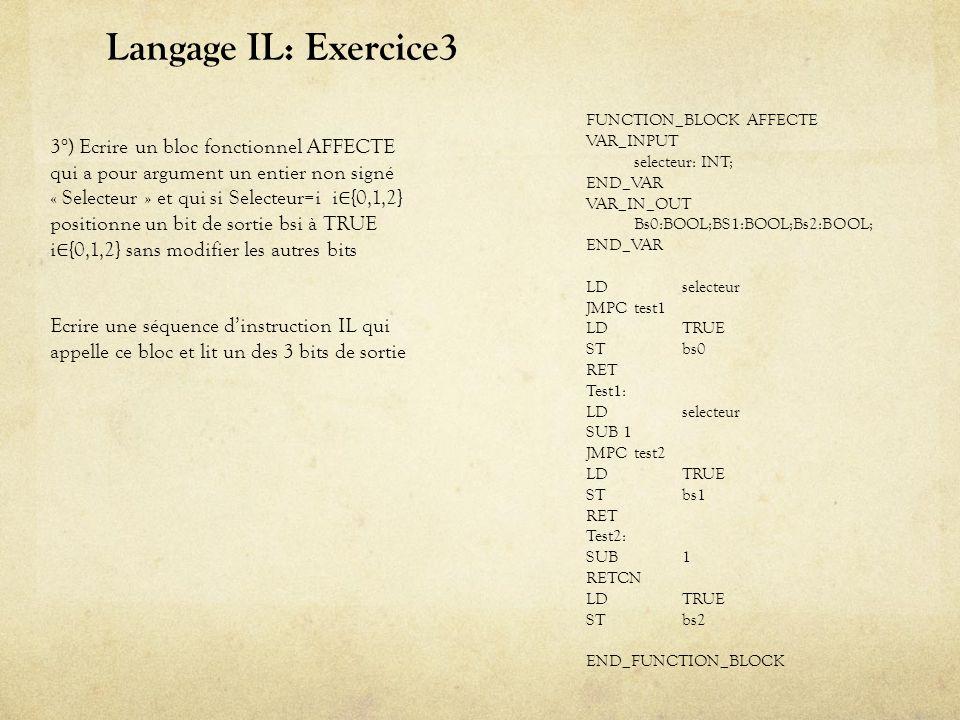 Langage FDB: Exercice1/2 Partie déclarative Code FDB