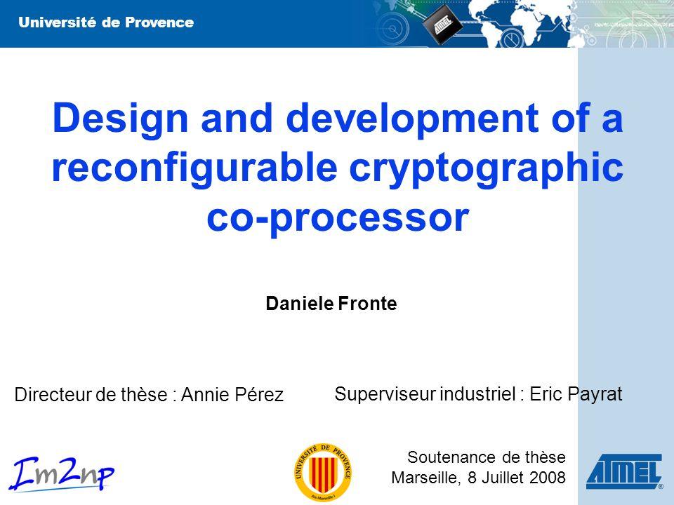 Daniele Fronte 22 PE Array, Controller, CRAM PE Array CRAM Controller Reconfigurabilité donnée par : Réseau systolique de Processing Elements CRAM