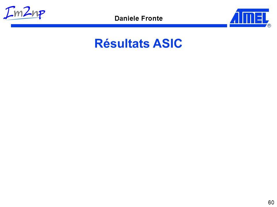 Daniele Fronte 60 Résultats ASIC