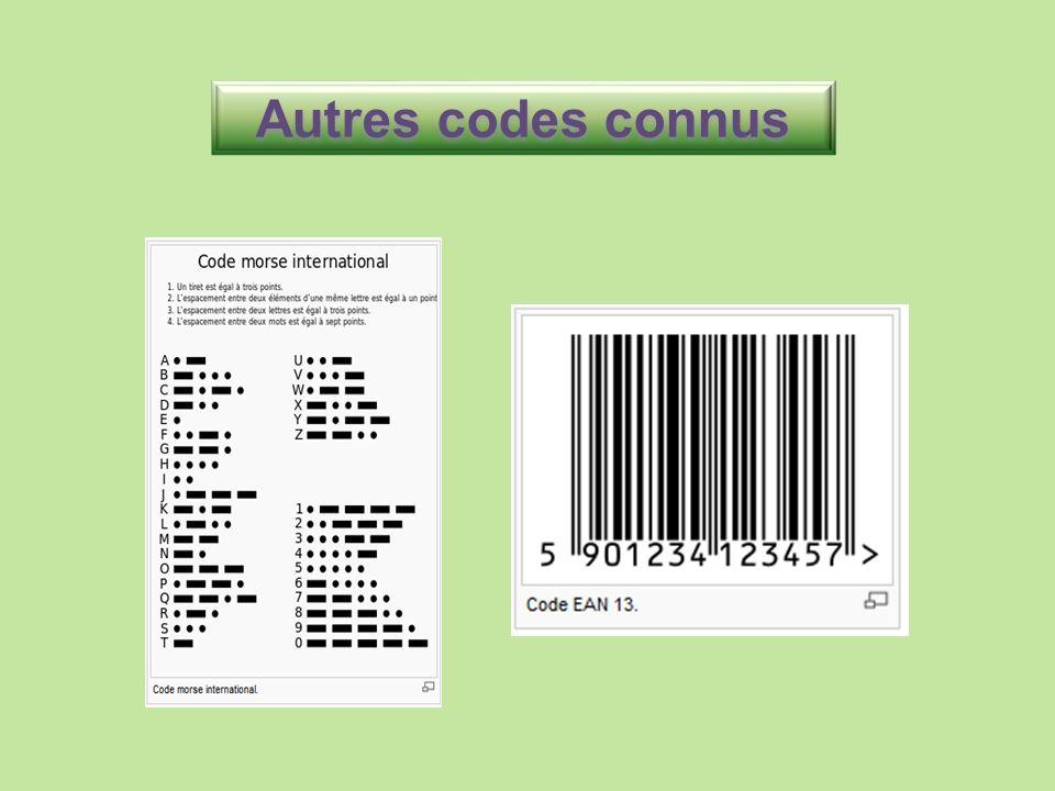 Autres codes connus