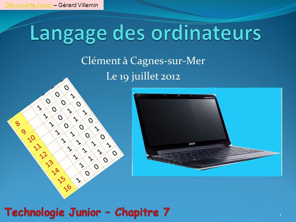 Clément à Cagnes-sur-Mer Le 19 juillet 2012 1 Découverte Junior Découverte Junior – Gérard Villemin