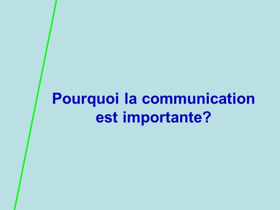Pourquoi la communication est importante
