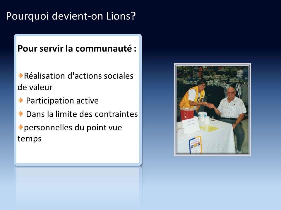 Pourquoi devient-on Lions.