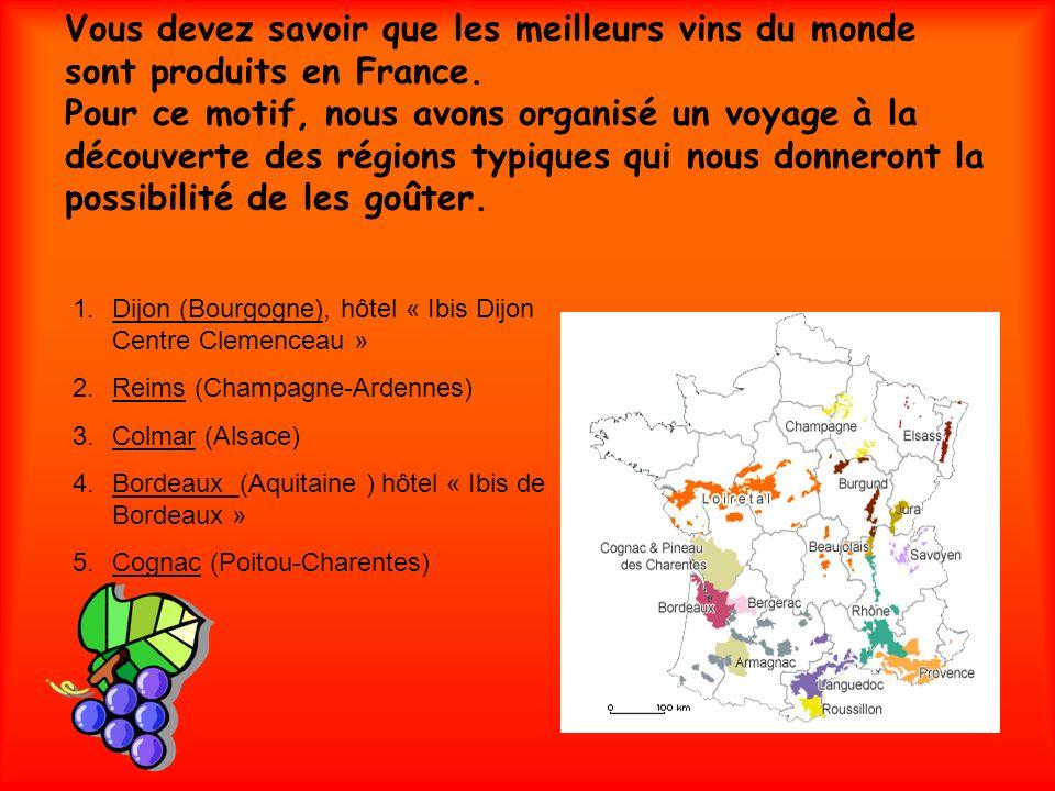 Vous devez savoir que les meilleurs vins du monde sont produits en France. Pour ce motif, nous avons organisé un voyage à la découverte des régions ty