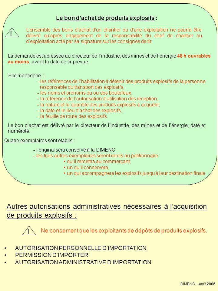 Jutilise des explosifs sur un chantier : je dois … Obtenir une autorisation dutiliser des explosifs dès réception (AUER).