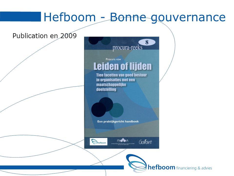 Hefboom - Bonne gouvernance Publication en 2009