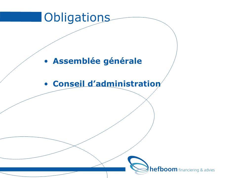 Obligations Assemblée générale Conseil dadministration