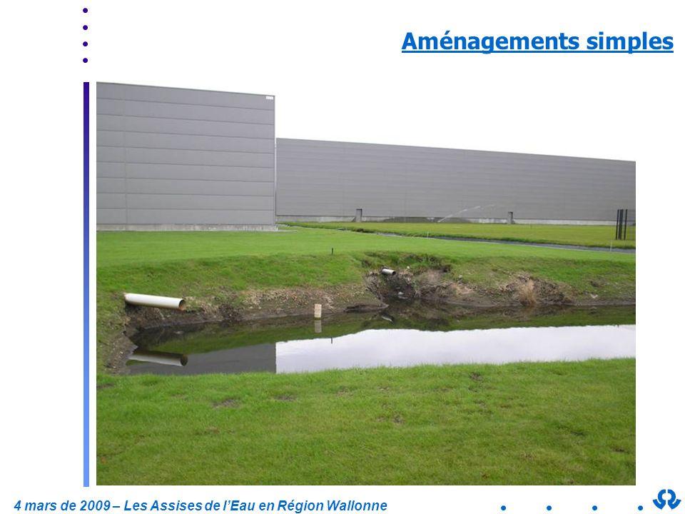 4 mars de 2009 – Les Assises de lEau en Région Wallonne Aménagements simples