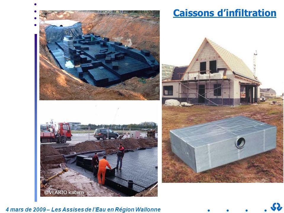 4 mars de 2009 – Les Assises de lEau en Région Wallonne Caissons dinfiltration @VLARIO katern