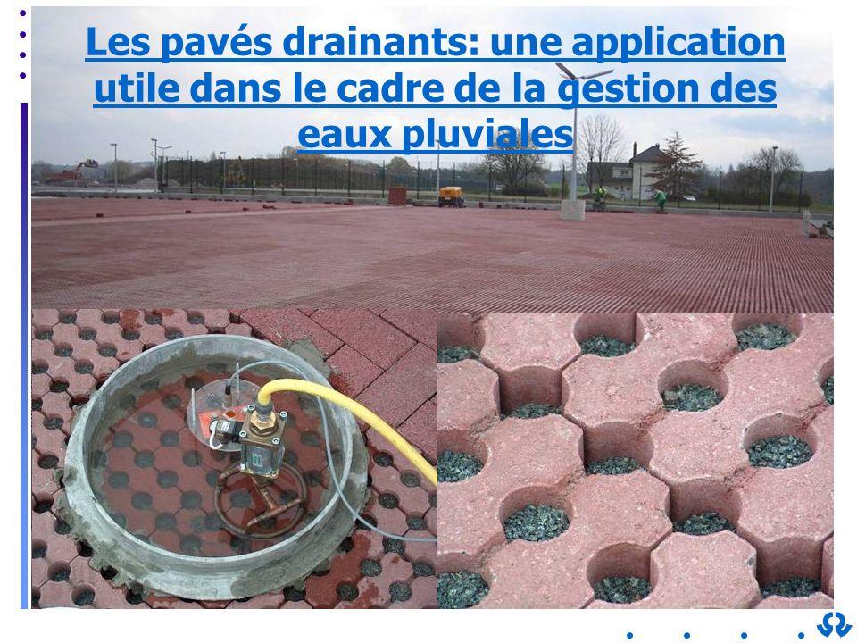 Les pavés drainants: une application utile dans le cadre de la gestion des eaux pluviales