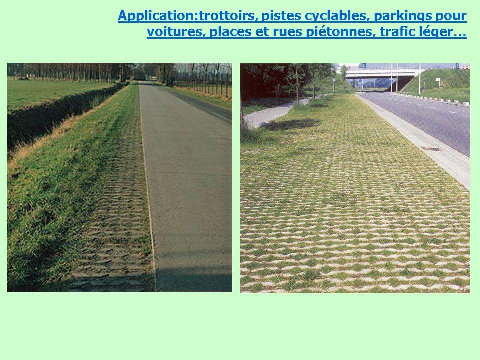 4 mars de 2009 – Les Assises de lEau en Région Wallonne Application:trottoirs, pistes cyclables, parkings pour voitures, places et rues piétonnes, tra