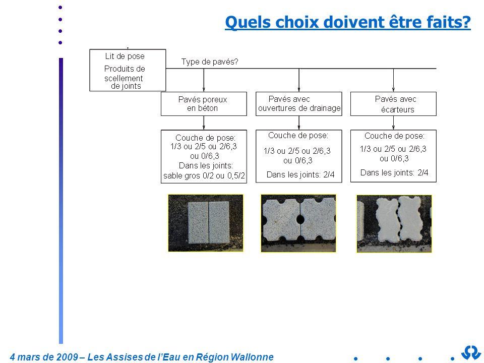 4 mars de 2009 – Les Assises de lEau en Région Wallonne Quels choix doivent être faits?