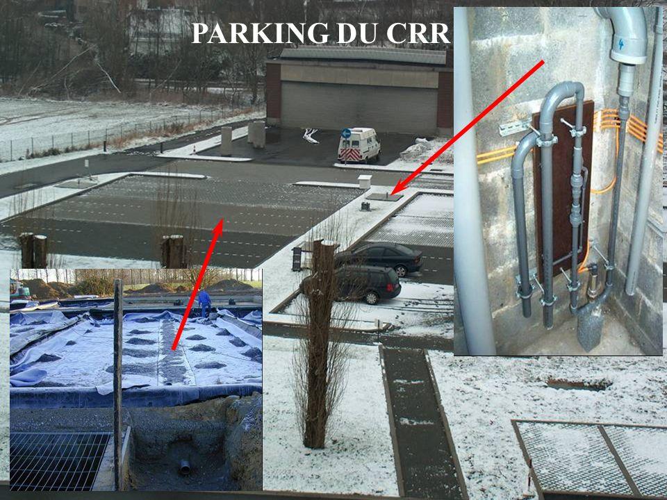 4 mars de 2009 – Les Assises de lEau en Région Wallonne WP 5: Proefparking OCW PARKING DU CRR